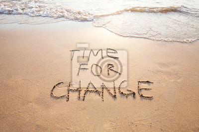 Fototapete Zeit für Veränderung, Konzept der neuen, Leben verändern und Verbesserung