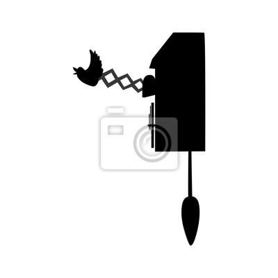 Zeit und uhr isoliert flache linie symbol in schwarz-weiß-farben ...