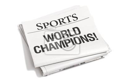 Zeitungs-Schlagzeilen Sportteil
