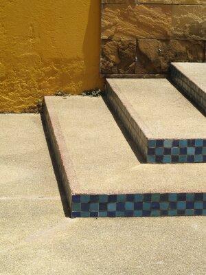 Zement-Treppen