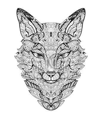 Ausmalbilder Erwachsene Fuchs