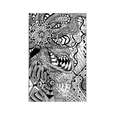fototapete zentangle muster doodle florent stil hand zeichnen - Zentangle Muster