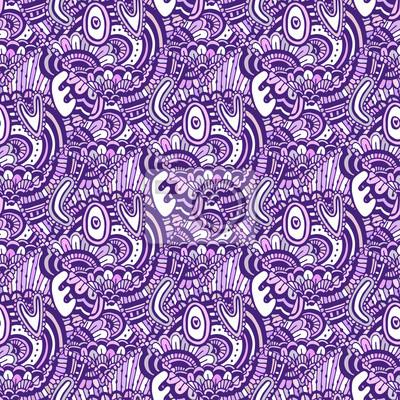 fototapete zentangle muster mit text liebe valentinstag lila hintergrund vector nahtlose muster fr frbung - Zentangle Muster