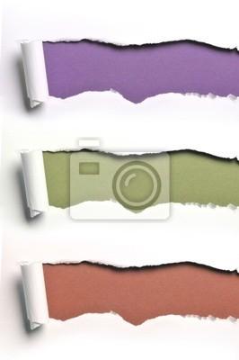 zerrissenen Papier in verschiedenen Farben