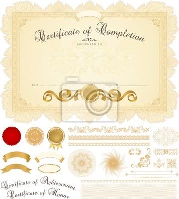 Zertifikat / diplom-vorlage. fototapete • fototapeten Wasserzeichen ...