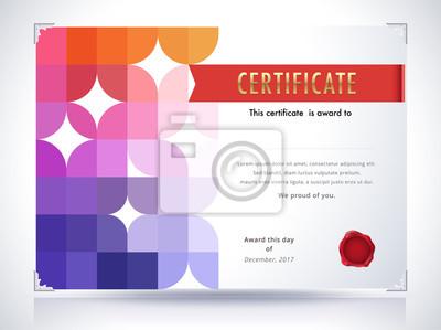 Zertifikatvorlage. diplomvorlage. abstrakter hintergrund. vec ...