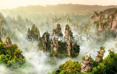 Fototapete Zhangjiajie-Klippenberg bei Wulingyuan Hunan China