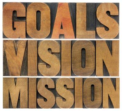 Fototapete Ziele, Vision und Mission