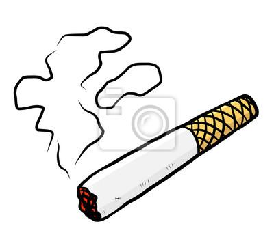Fototapete Zigarette und Rauch