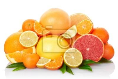 Zitrusfrüchte mit Clipping-Pfad