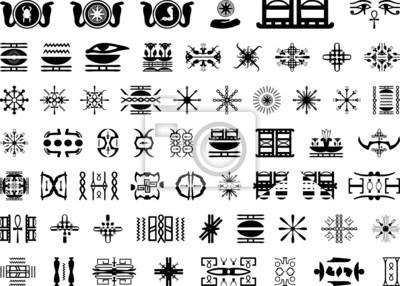 Znaki Egiptu tun tatuażu