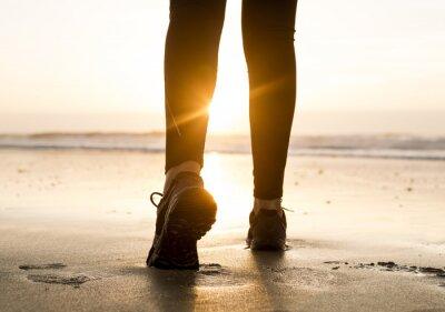 Fototapete Zu Fuß zum Sonnenuntergang