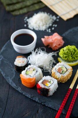 Fototapete Zubereitung von Sushi