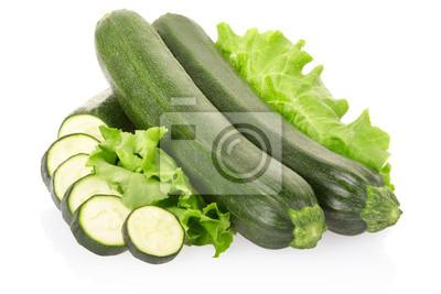 Zucchini auf weiß, Clipping-Pfad enthalten