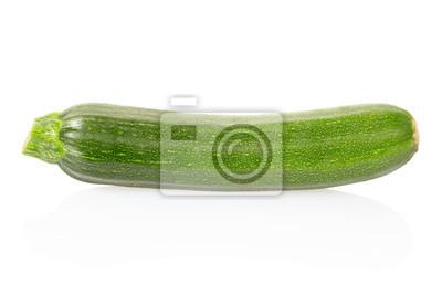 Zucchini Zucchini auf weiß, Clipping-Pfad enthalten