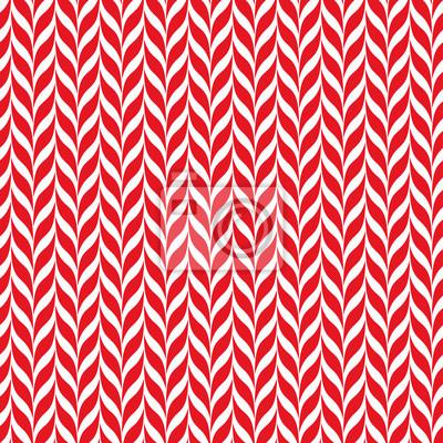Fototapete Zuckerstangen Vektor Hintergrund. Nahtlose Xmas-Muster mit roten und weißen Zuckerstangestreifen. Netter Winter Urlaub Hintergrund.