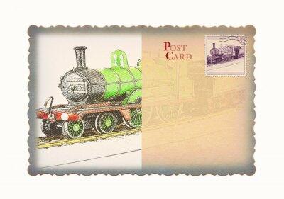 Zug Postkarte