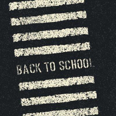 Fototapete Zurück in der Schule. Road-Sicherheitskonzept. Vector.
