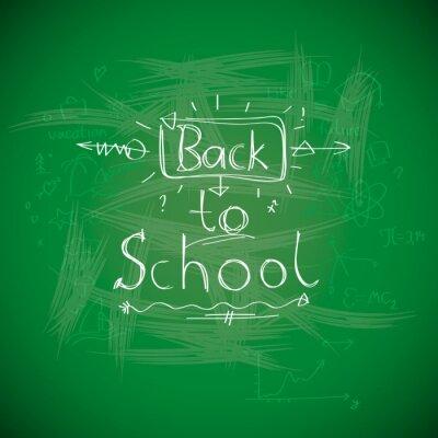 Fototapete Zurück zur Schule, chalkwriting auf Tafel, Vektor-Bild Eps10.