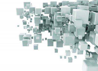 Fototapete Zusammenfassung 3d Cubes Hintergrund