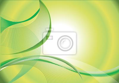 Zusammenfassung auf Linien grünen Hintergrund