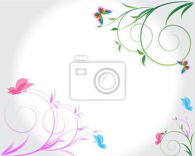 Zusammenfassung Blumen Hintergrund mit Platz für Ihren Text