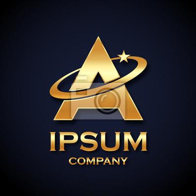Zusammenfassung Brief Ein Logo Gold Star Symbol Zeichen Saturn