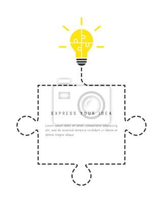 Zusammenfassung Bubble Vorlage Mit Platz Für Text Glühbirne
