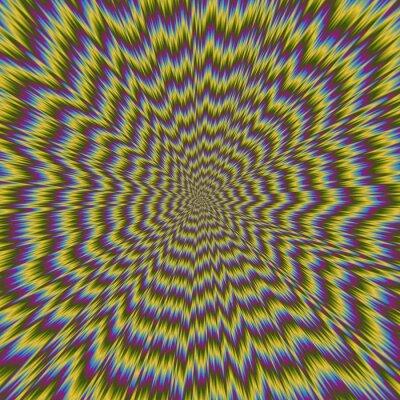 Fototapete Zusammenfassung bunte Illustration der hypnotischen hellen Muster