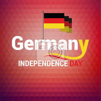 Zusammenfassung Deutschland Farbe Hintergrund 3 Oktober Deutschland