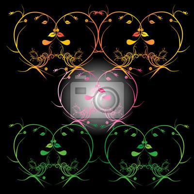 Zusammenfassung floral background. Vector Herz mit Blütenblättern. Element für Design.