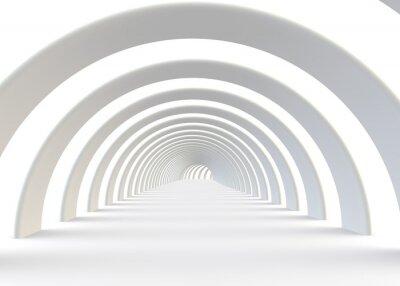 Fototapete Zusammenfassung futuristischen Tunnel in einem zeitgenössischen Stil