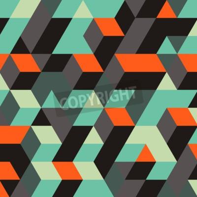 Fototapete Zusammenfassung Geometrische 3d Hintergrund. Kann für Wallpaper, Web-Seite Hintergrund, Web-Banner verwendet werden.