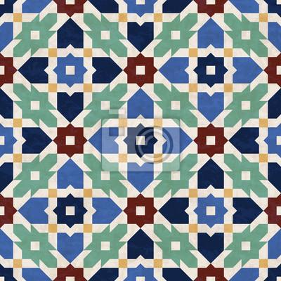 Zusammenfassung Geometrischen Mosaik Muster Marmor Fliesen Im - Fliesen maurisch