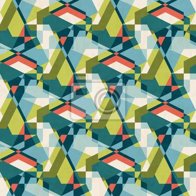 Fototapete Zusammenfassung Geometrischen Nahtlose Muster In Mitte Des Jahrhunderts  Modernen Farben, Vektor Illustration Mit
