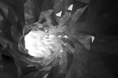 Fototapete Zusammenfassung glänzenden schwarzen Kristall digitalen Tunnel 3D