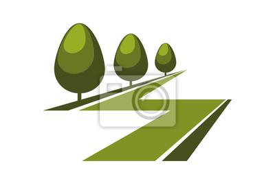 Zusammenfassung grünen Gasse Symbol oder das Symbol