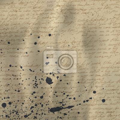 Zusammenfassung Handschrift auf alten zerknittertes Vintage-Papier mit Tinte splu