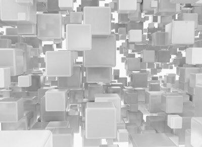 Fototapete Zusammenfassung Hintergrund aus metallischen Würfeln