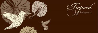 Fototapete Zusammenfassung Hintergrund mit Blumen