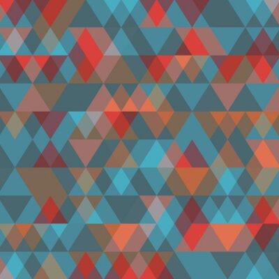 Fototapete Zusammenfassung Hintergrund mit Dreiecken. Abbildung.
