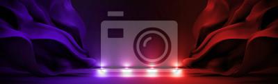 Fototapete Zusammenfassung Hintergrund mit Licht und bewegenden Tuch