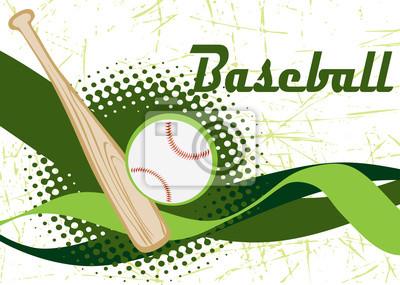 Zusammenfassung horizontale Baseball-Banner