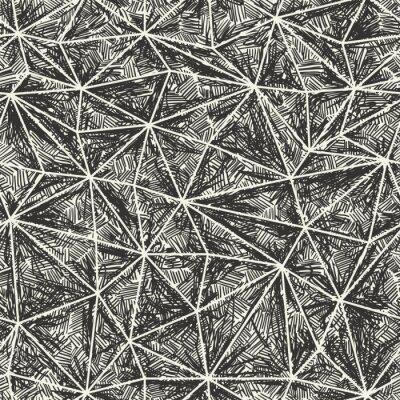 Zusammenfassung künstlerischen Hand gezeichnete Muster. Wire-Frame-Dreieck Struktur