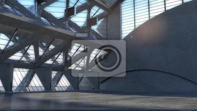 Zusammenfassung leere raum konkrete raum interieur, moderne ...