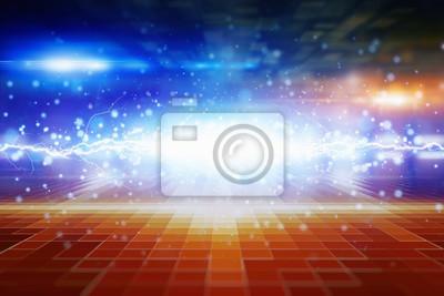 Zusammenfassung leuchtenden Hintergrund, helles blaues Licht und Fackeln