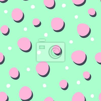 Fototapete Zusammenfassung nahtlose Hintergründe mit Punkten und Flecken. Nette Vektor nahtlose Muster.