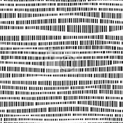 Zusammenfassung nahtlose Vektor-Muster mit Hand gezeichneten vertikalen Linien. Monochrome Illustration Streifen Textur. Hipster Grafikdesign