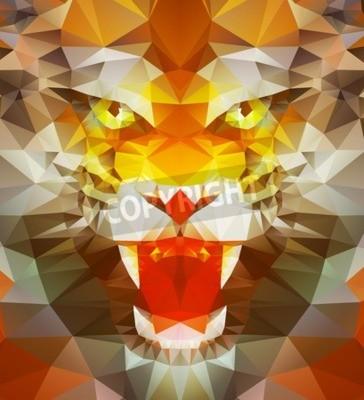 Fototapete Zusammenfassung polygonalen Tiger