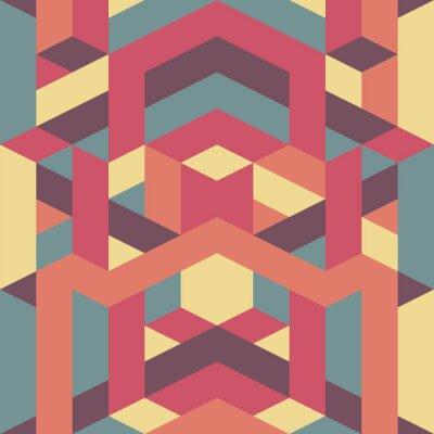 Fototapete Zusammenfassung Retro geometrisches Muster